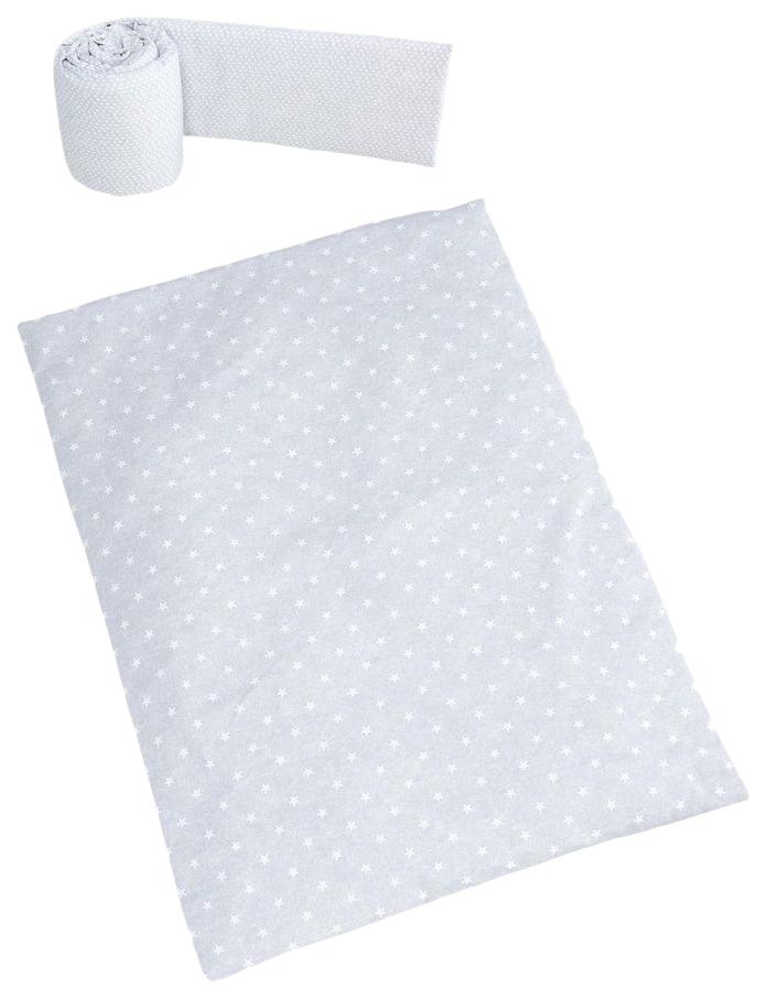 Купить Набор Micuna Galaxy (Микуна Гэлакси) покрывало+бортик для колыбели ТХ-1823 galaxy grey,