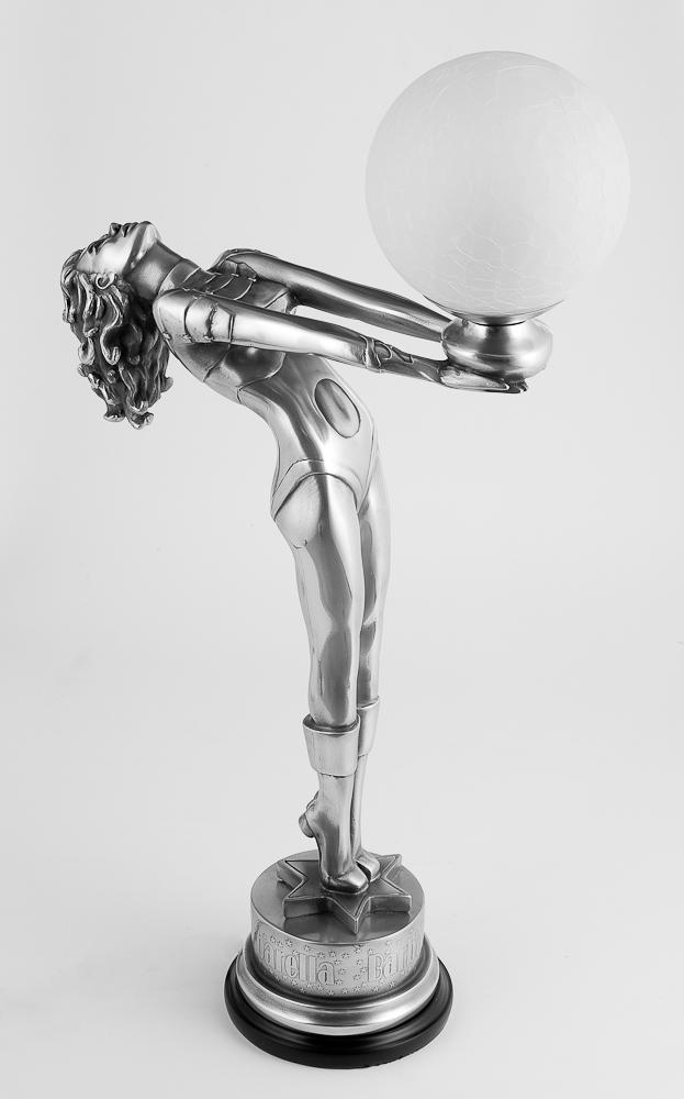 Скульптура светильник 'Барбарелла', металл, 76 см