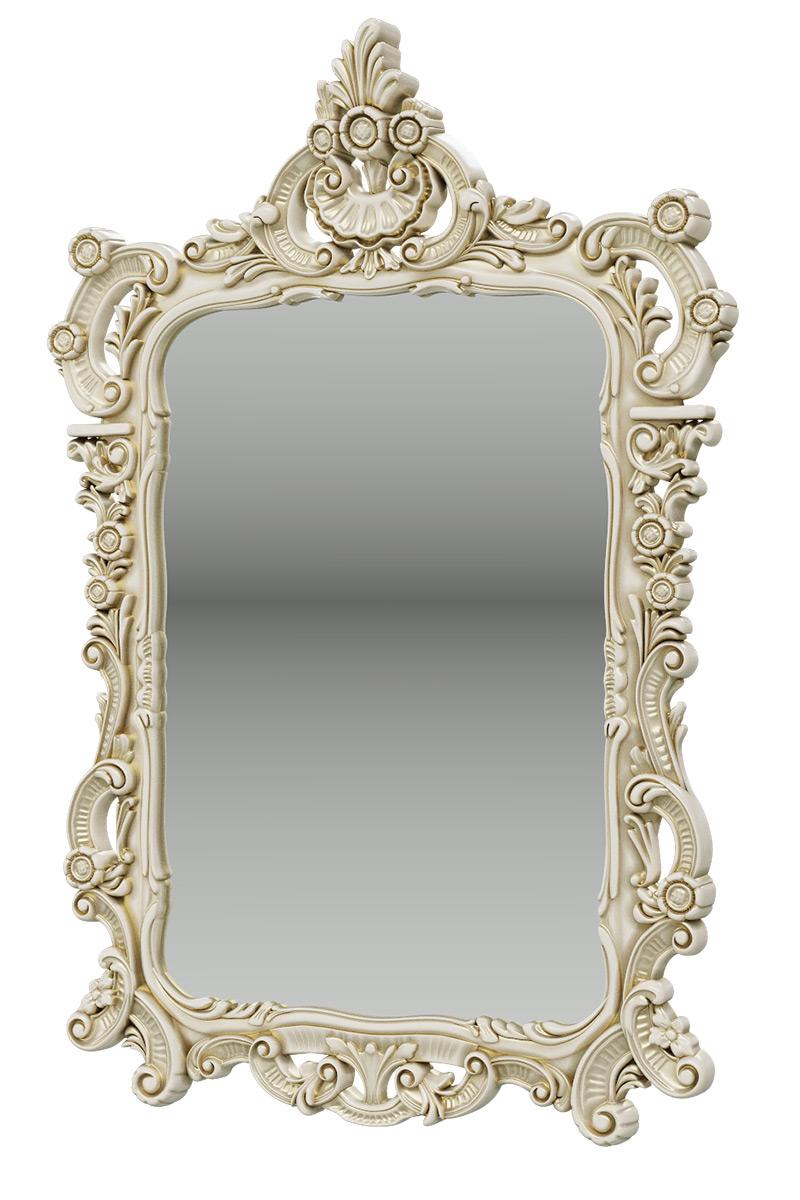Зеркало Мэри-Мебель ЗК-01, цвет слоновая кость, 70х8х106 см. фото