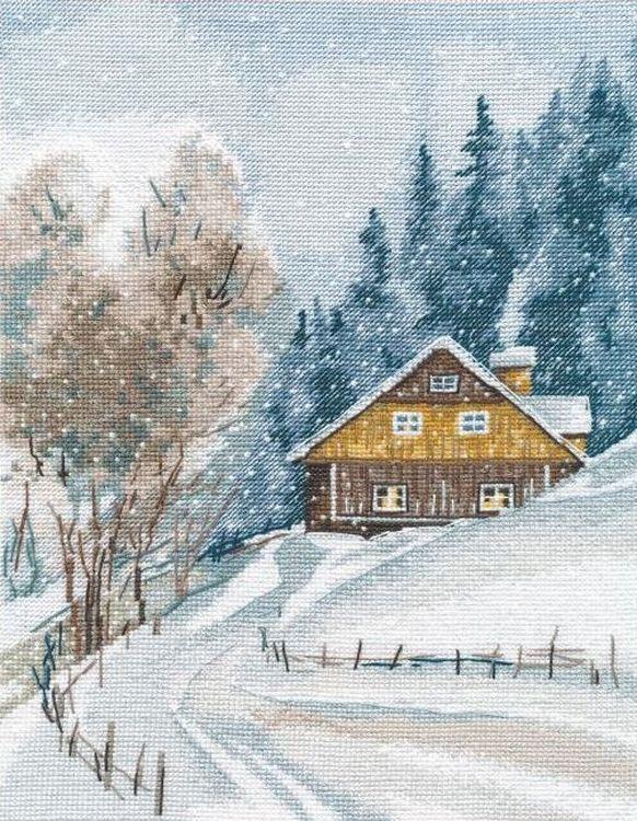 Набор для вышивания Овен Зимняя тишина, арт.309280 фото