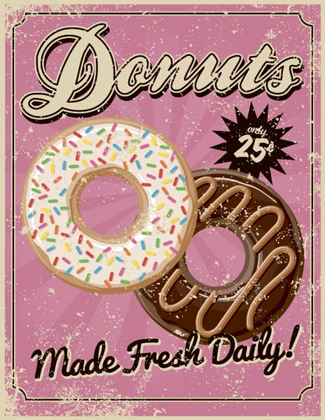 Картина на холсте 70x90 Donuts Ekoramka HE-101-416