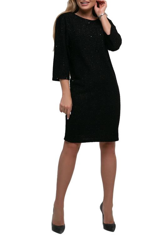 Платье женское Петербургский Швейный Дом 1274-1 черное 46 RU фото