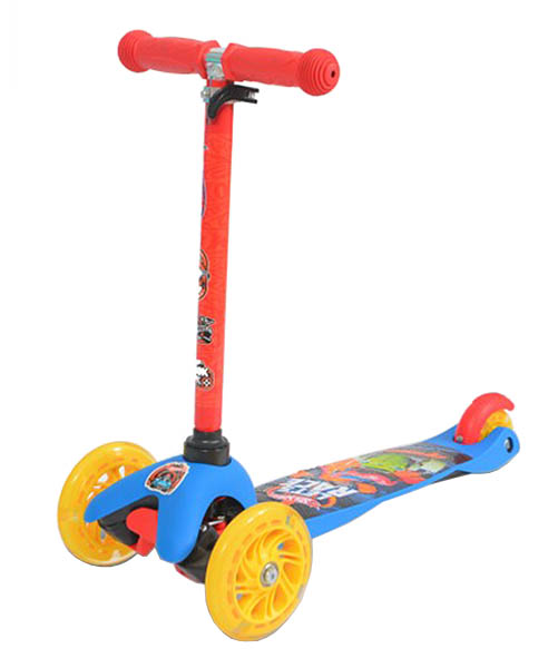 Самокат Shantou Gepai Hot wheels кикборд светящиеся колеса MINI203-HWS-2