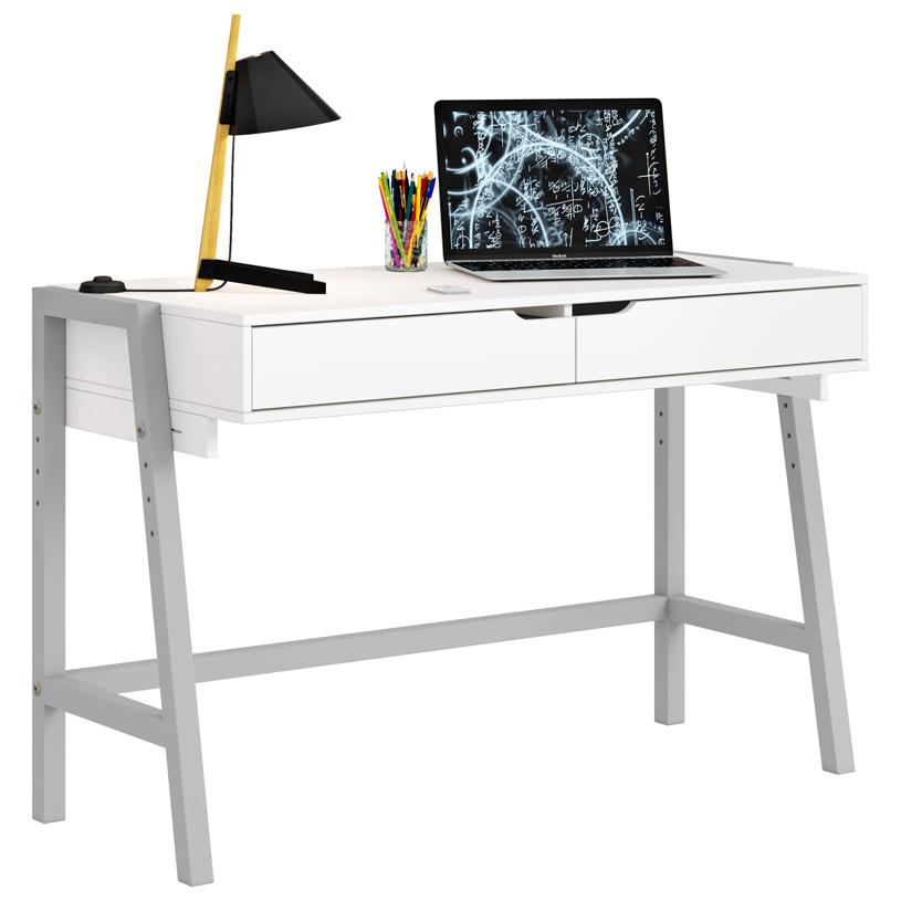 Детский стол письменный Polini kids Mirum 1440 низкий, цв. бело-серый