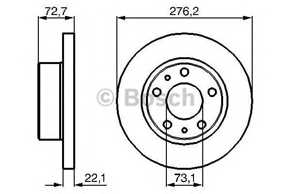 Тормозной диск Bosch 0986479162 фото