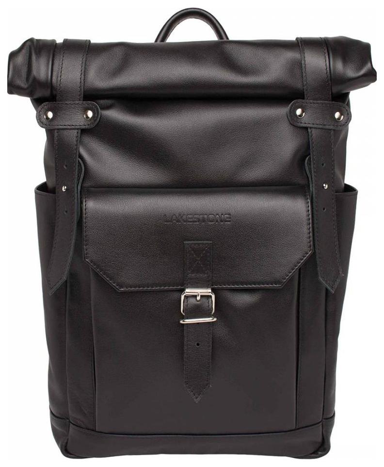 Рюкзак кожаный Lakestone Eliot черный 13 л фото