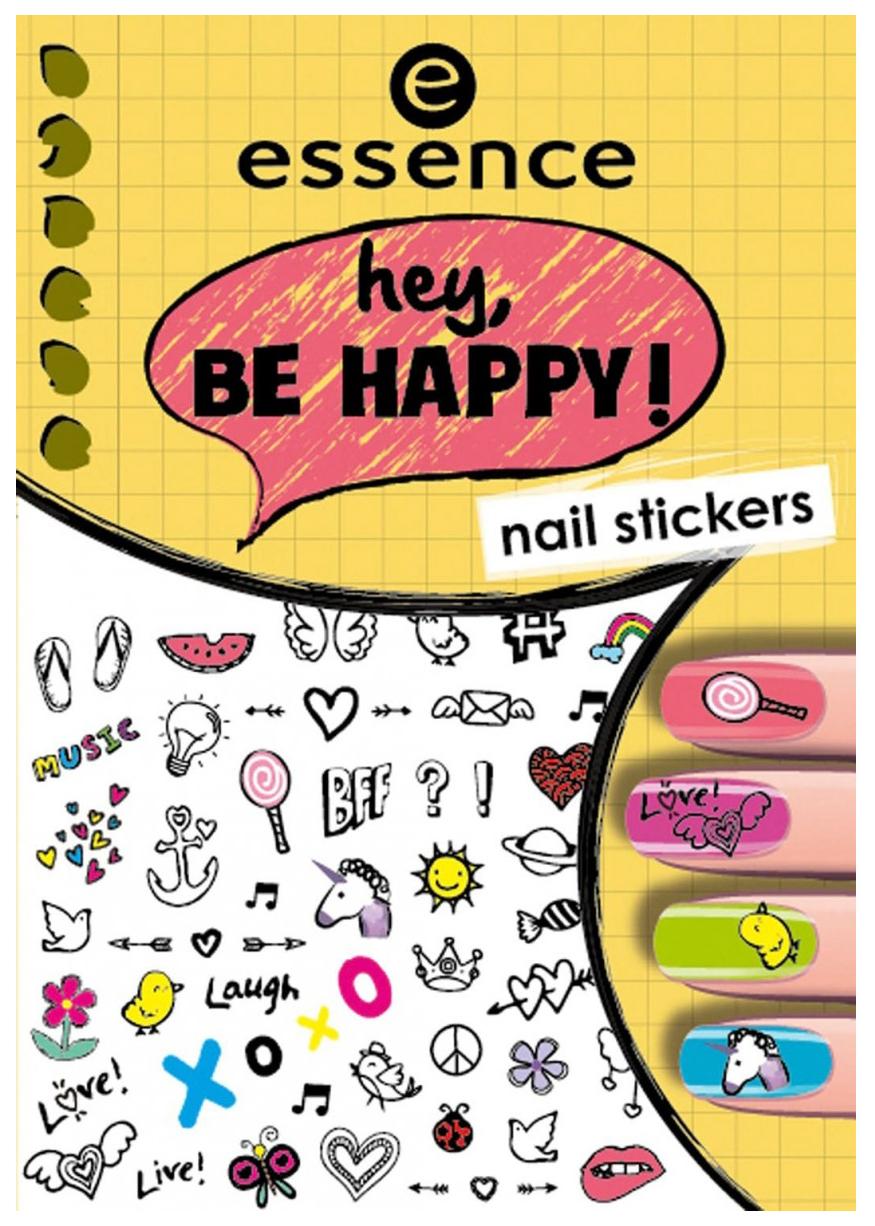 Наклейки для ногтей essence Hey, Be Happy Nail