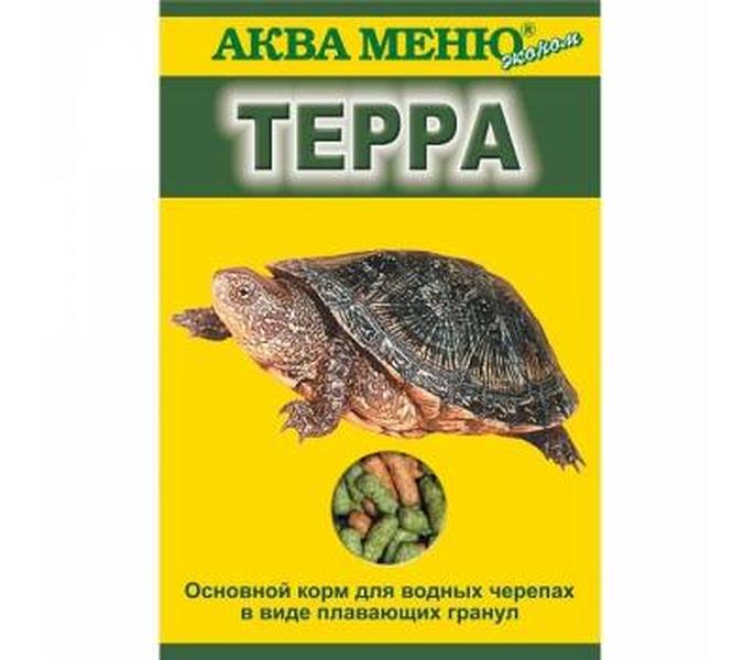Корм водных черепах Аква Меню, гранулы, 15