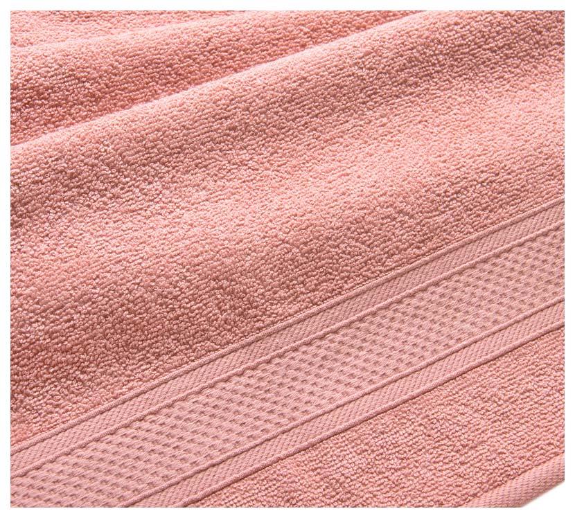 Полотенце махровое с бордюром (кремовое) 70х140
