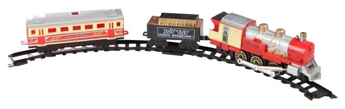 Купить Железная дорога JOY TOY Мой первый поезд (свет, звук, дым), 380 см, Детские железные дороги