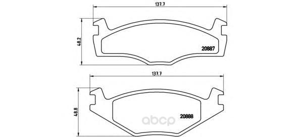 Тормозные колодки дисковые brembo P85005