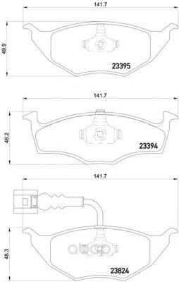 Колодки тормозные дисковые передние audi a2 01-05 Textar 2339502 фото