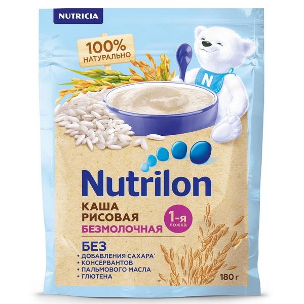 Купить Каша Nutrilon рисовая 4 мес. 180 г, Детские каши