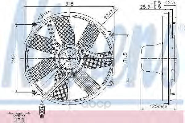 Вентилятор охлаждения двигателя Nissens 85151