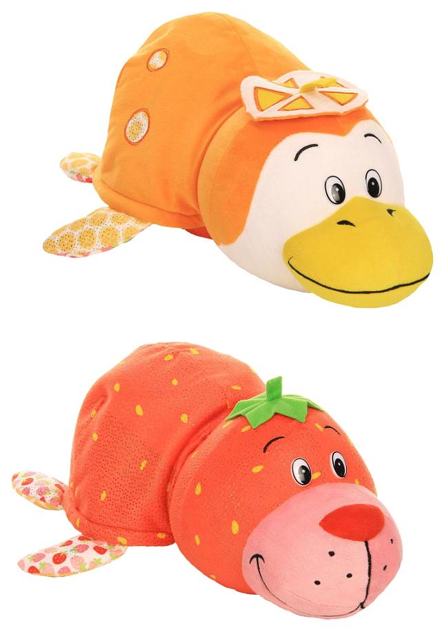 Купить Игрушка-вывернушка 1 TOY Ням-Ням Морской котик-Пингвинчик Клубника-Апельсин 40 см, Мягкие игрушки животные