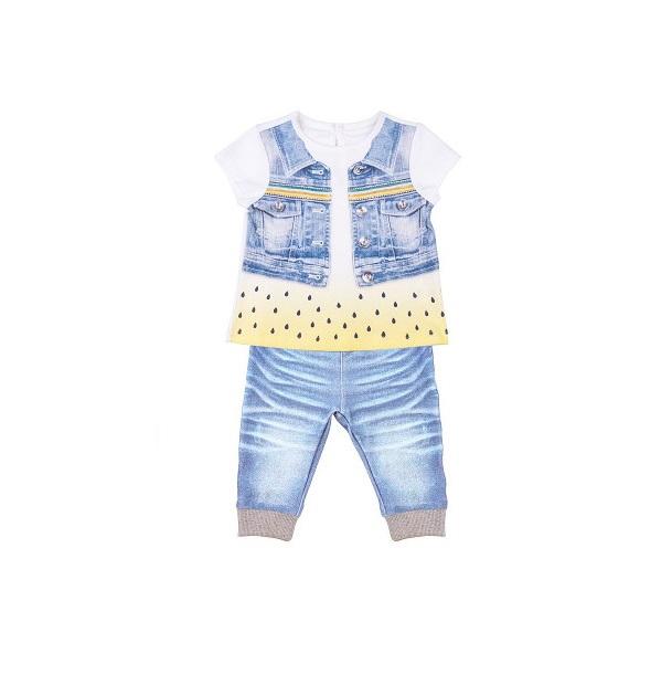 Комплект 2 пр. Папитто для девочки Fashion Jeans 520-04 р.22-68