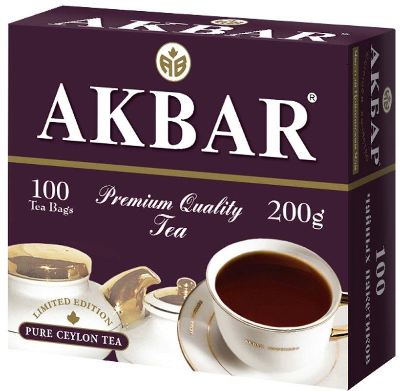 Чай Akbar English Breakfast черный байховый 2 г*100 пакетиков фото