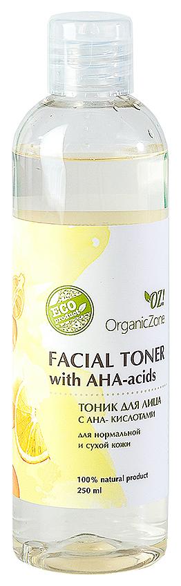 Купить Тоник для лица OrganicZone С АНА-кислотами для нормальной и сухой кожи 250 мл, Organic Zone