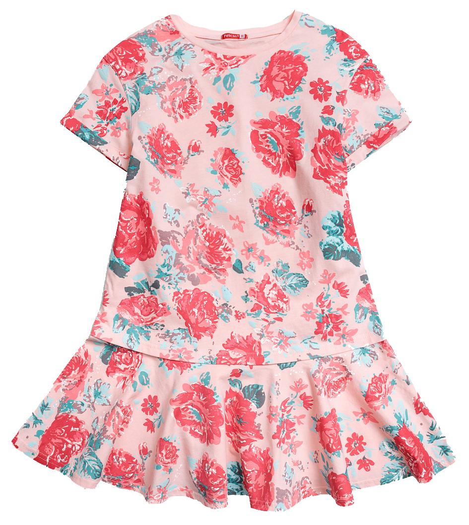 Купить Платье для девочки Pelican GFDT4016 Персиковый р. 116, Детские платья и сарафаны