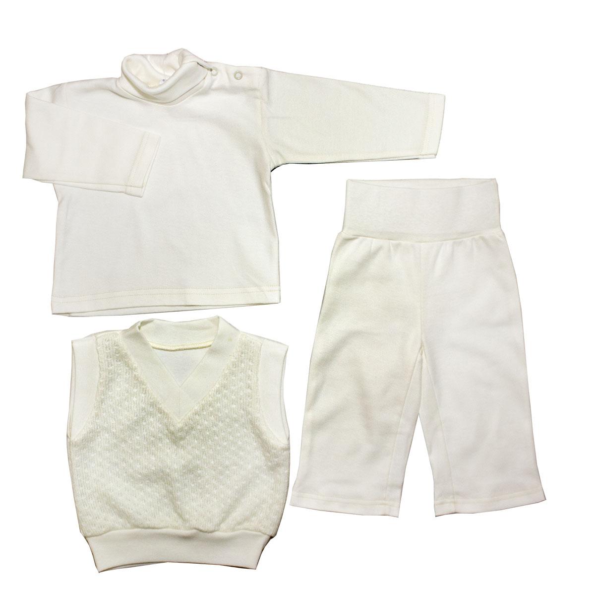 Комплект одежды Осьминожка для мальчика бежевый р.68