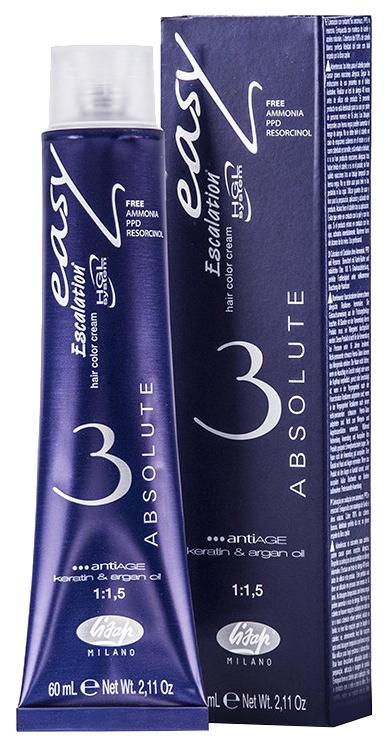 Краска для волос Lisap Milano Escalation Easy Absolute 5/00 Светлый шатен 60 мл