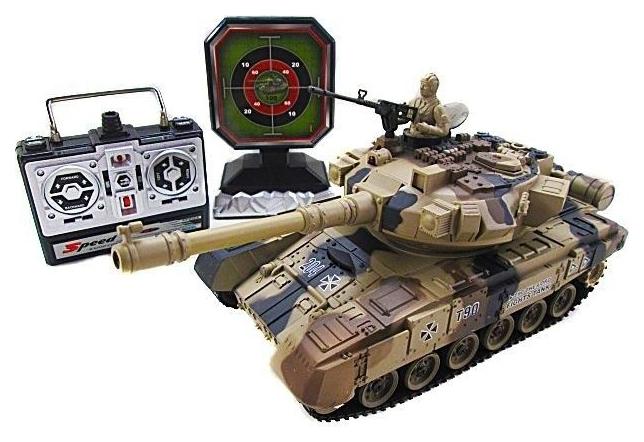 Радиоуправляемый танковый бой с мишенью House Hold Russia T-90 YH4101D-6