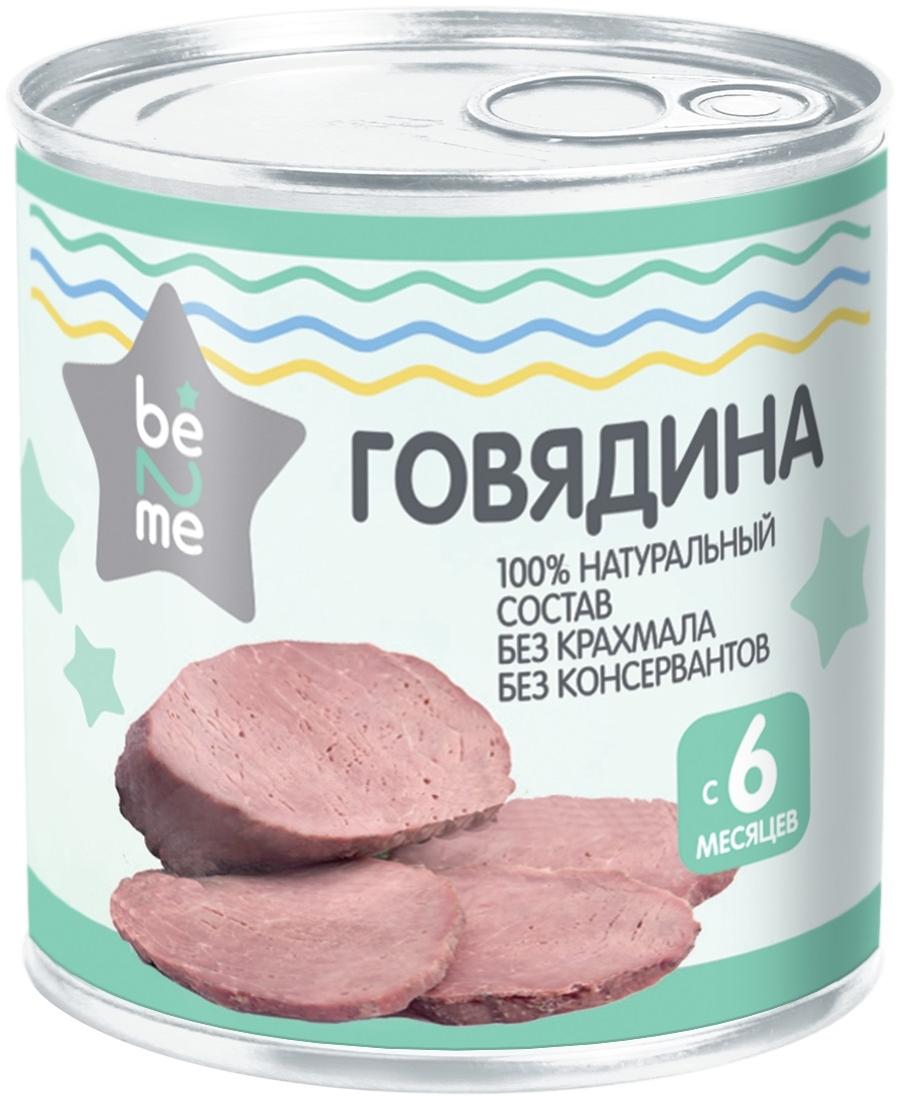 Купить Пюре мясное Be2Me Говядина с 6 мес. 100 г, Мясное пюре