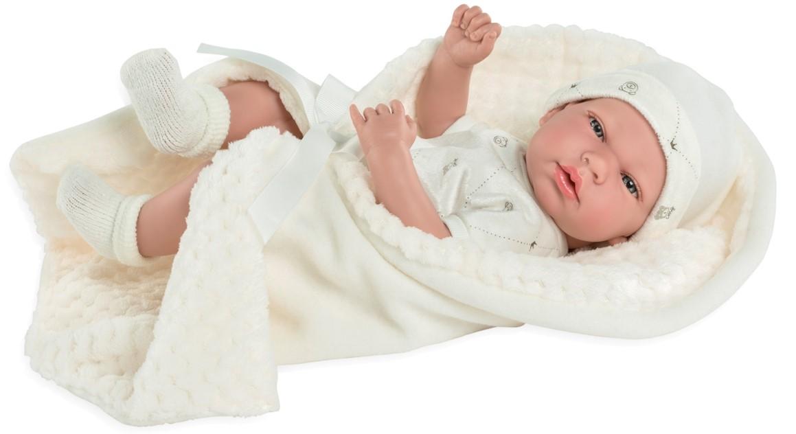 Купить Пупс ARIAS Elegance с бежевым одеялком, с соской, 38 см, Т13730, Пупсы