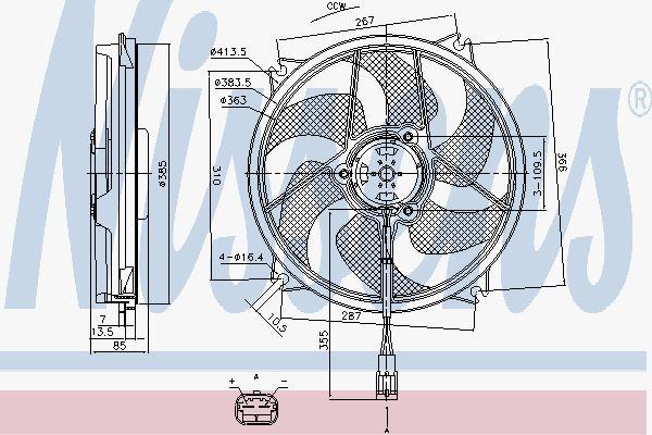 Вентилятор охлаждения двигателя NISSENS 85790