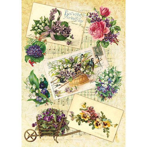 "Рисовая бумага для декупажа ""Craft Premier"", A3, 25г/м, ""Садовые цветы"" CP05479"