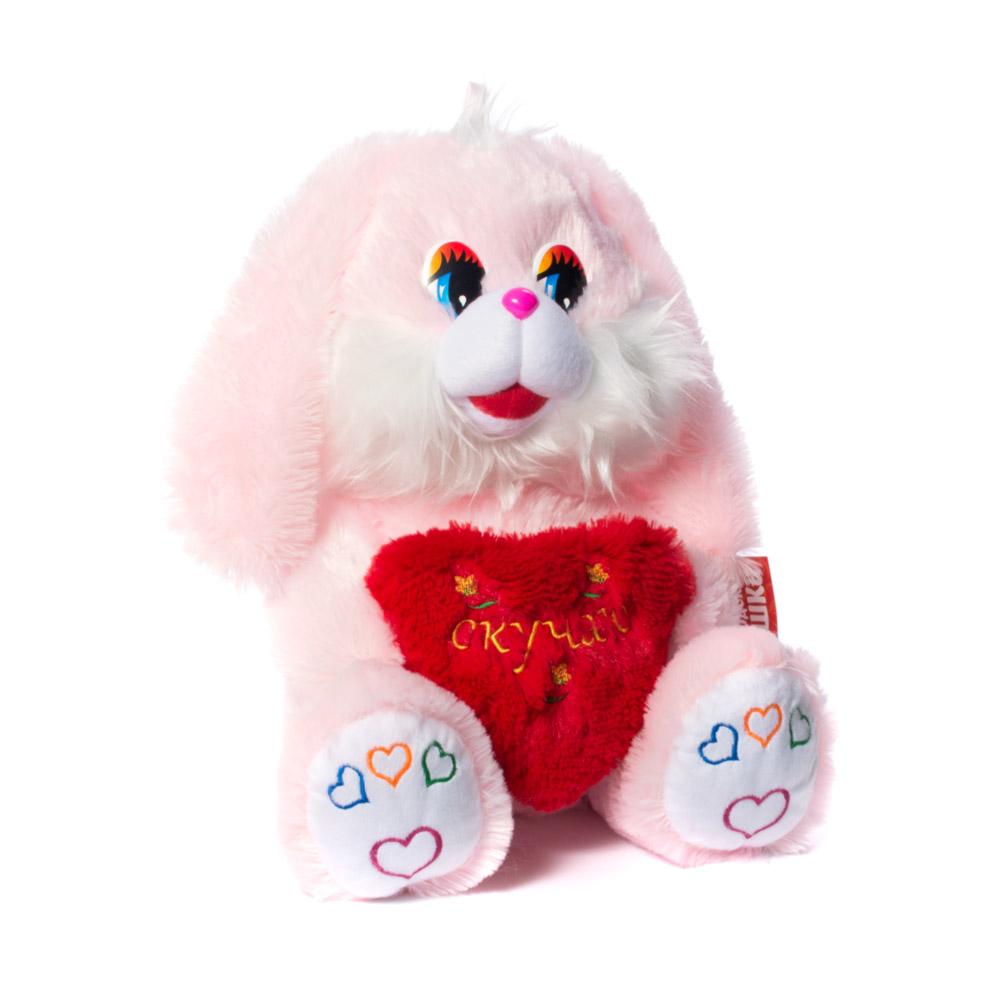 Купить Мягкая игрушка Зайчик с сердечком 45 см Нижегородская игрушка См-341-в-с-5, Мягкие игрушки животные