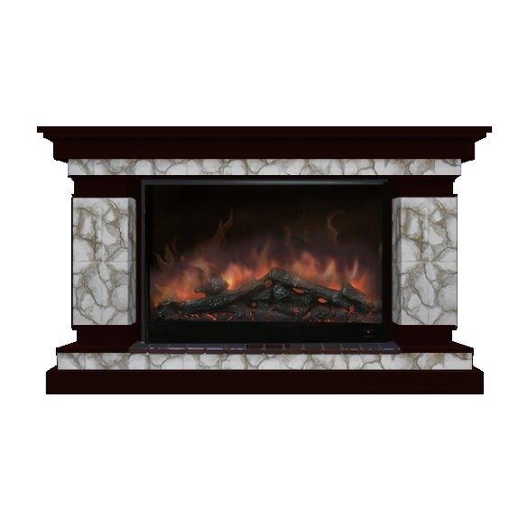 Камин для загородного дома Glenrich Лорд 10 (Premier S10) камень-Карелия/цвет-Венге фото