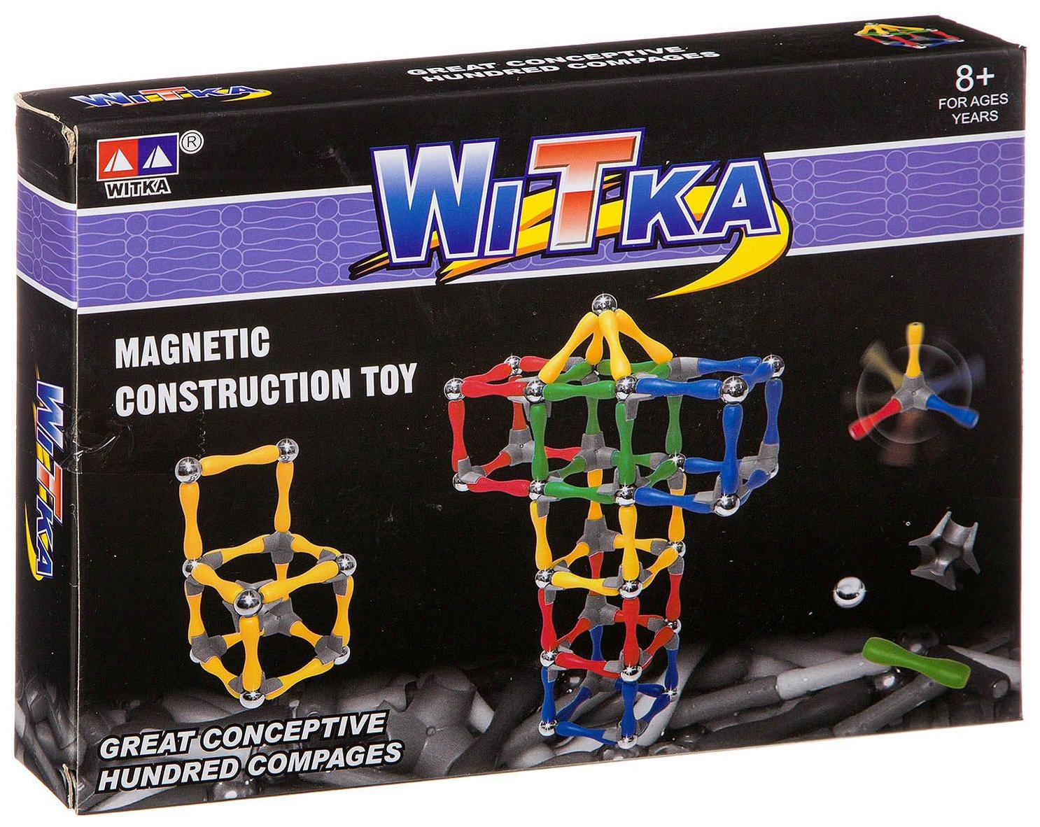 Купить Магнитный конструктор Witka 80 деталей 934, Магнитные конструкторы