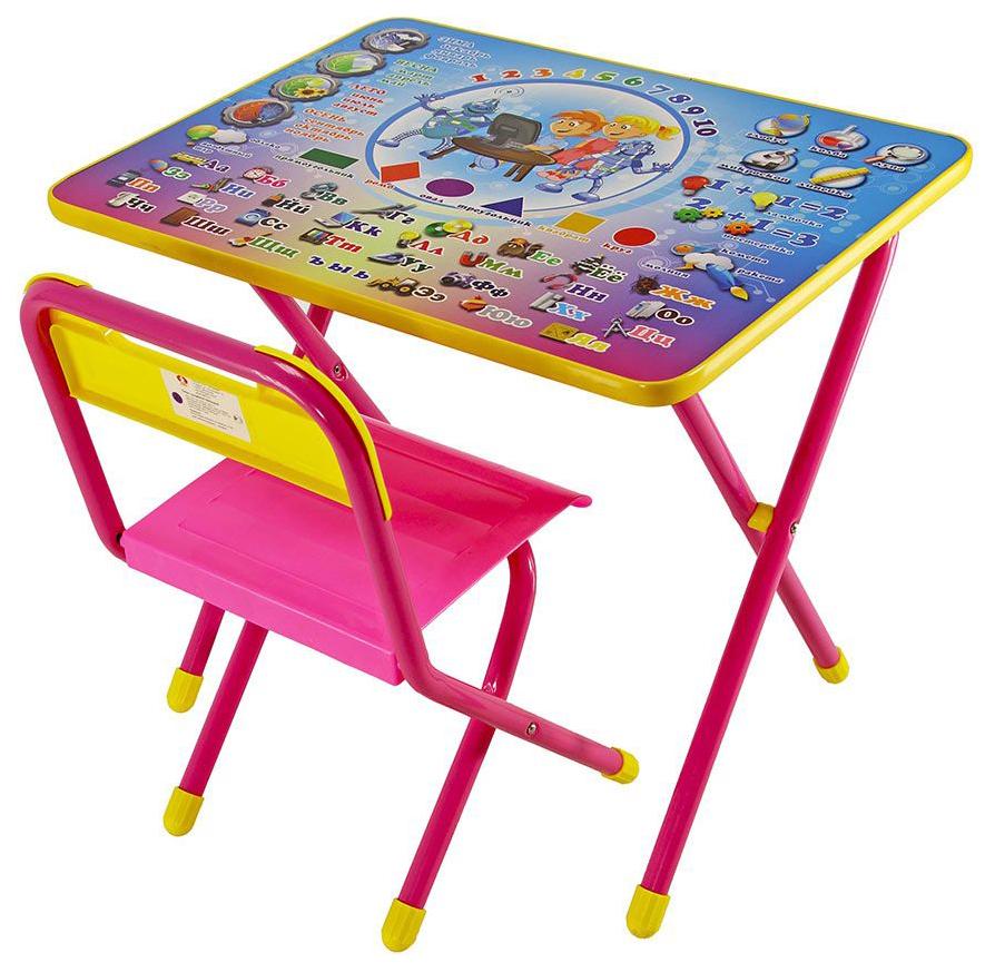 Комплект детской мебели Дэми №1 Электроник Стол+стул Розовый