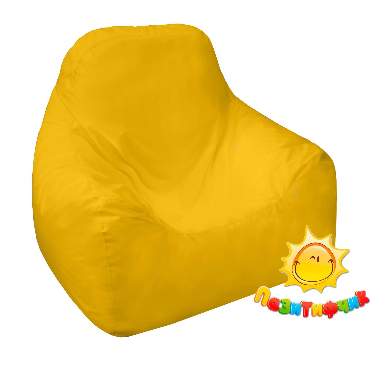 Кресло-мешок Pazitif Пазитифчик Оксфорд, размер L, оксфорд, желтый фото
