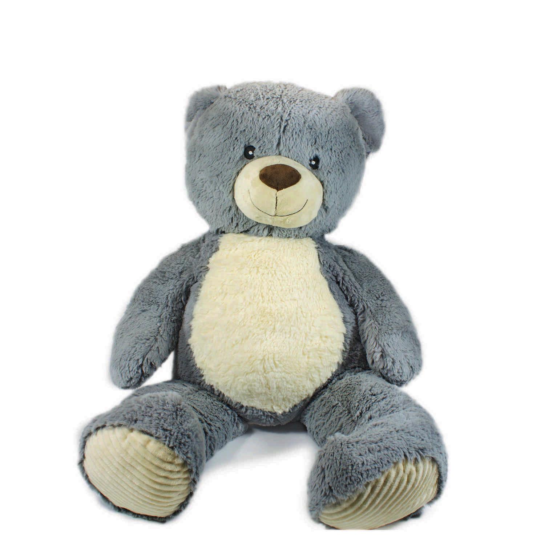 Купить Мягкая игрушка Teddykompaniet Медвежонок Валле, серый, 60 см, 12582, Мягкие игрушки животные