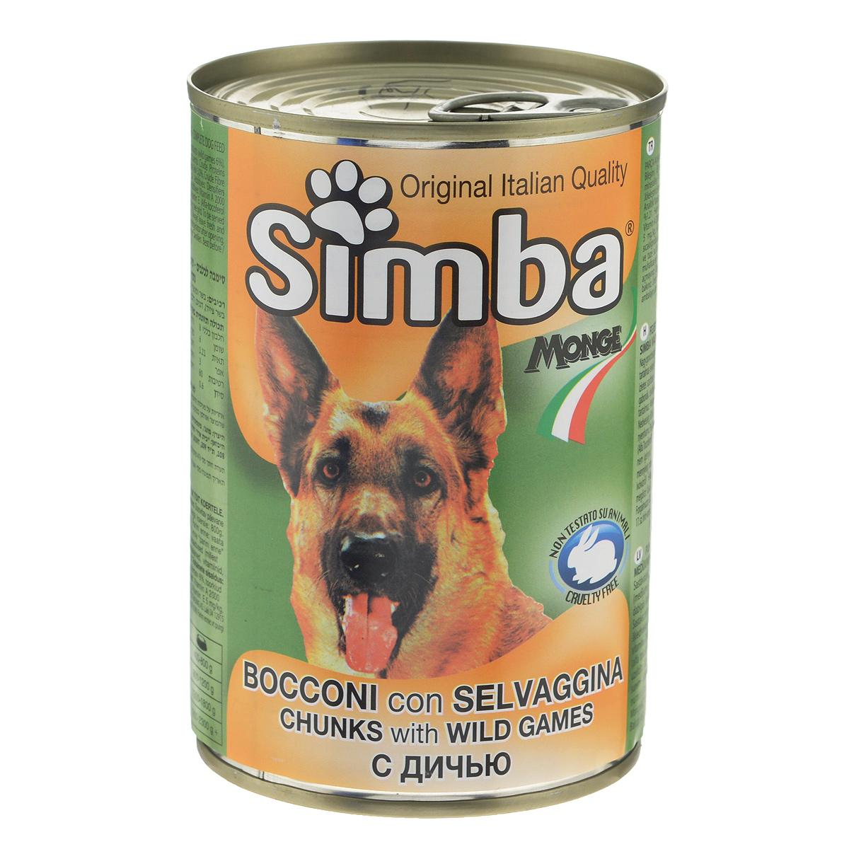 Консервы для собак Simba, дичь, 415г фото
