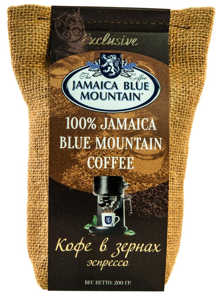 Кофе зерновой Ямайка Блю Маунтин обжарка эспрессо 200 г