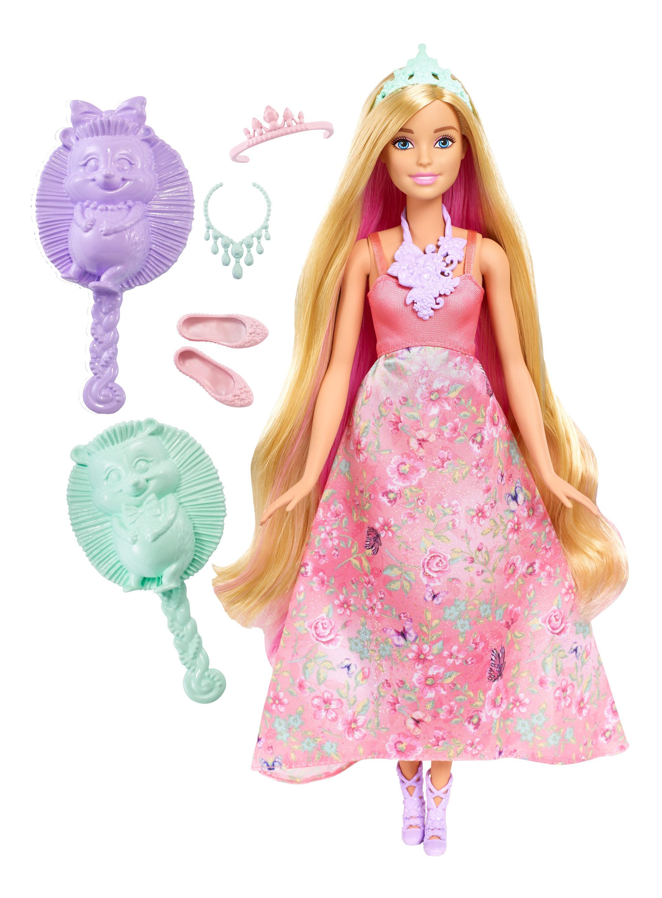 Купить Кукла Barbie Принцесса с волшебными волосами DWH41 DWH42, Куклы Barbie