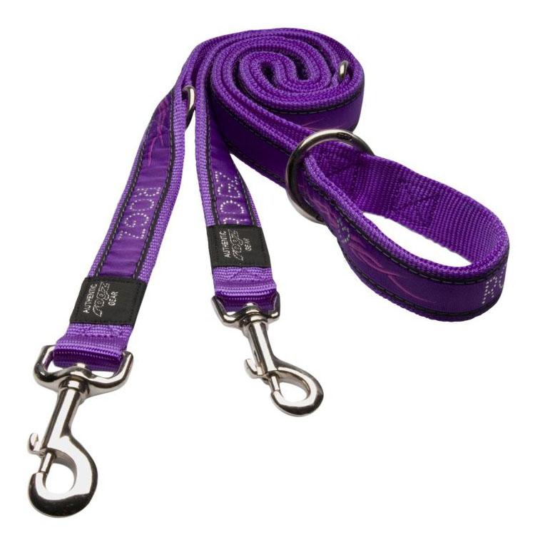 Поводок перестежка для собак Rogz Fancy Dress XL-25мм 1,8 м (Фиолетовый HLM02BJ)
