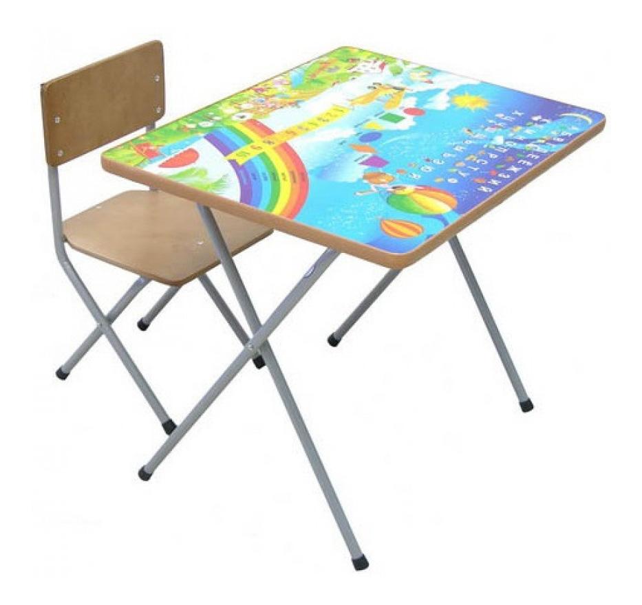 Набор мебели Фея №101 Алфавит и цифры (стол+стул)