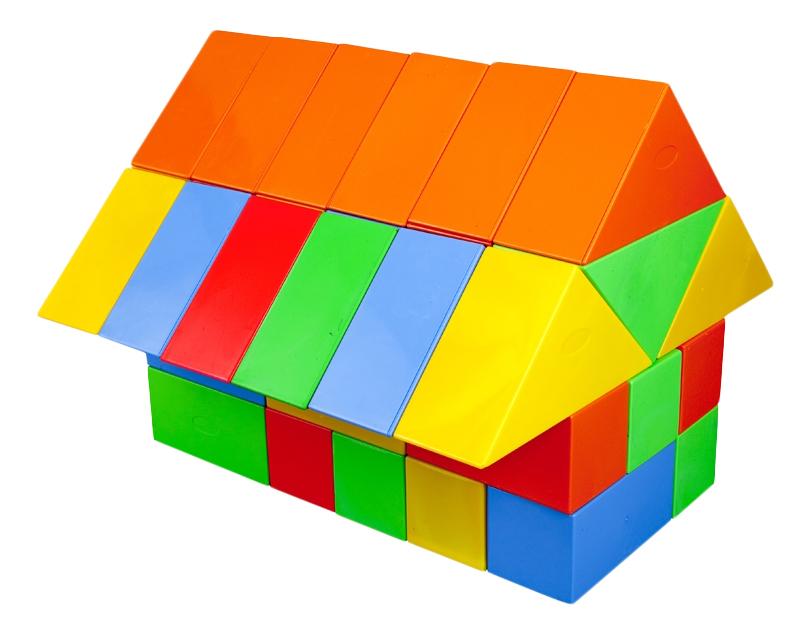 Купить Геометрические формы, Конструктор Pilsan Геометрическе фигуры 60 (3234plsn), Детские конструкторы