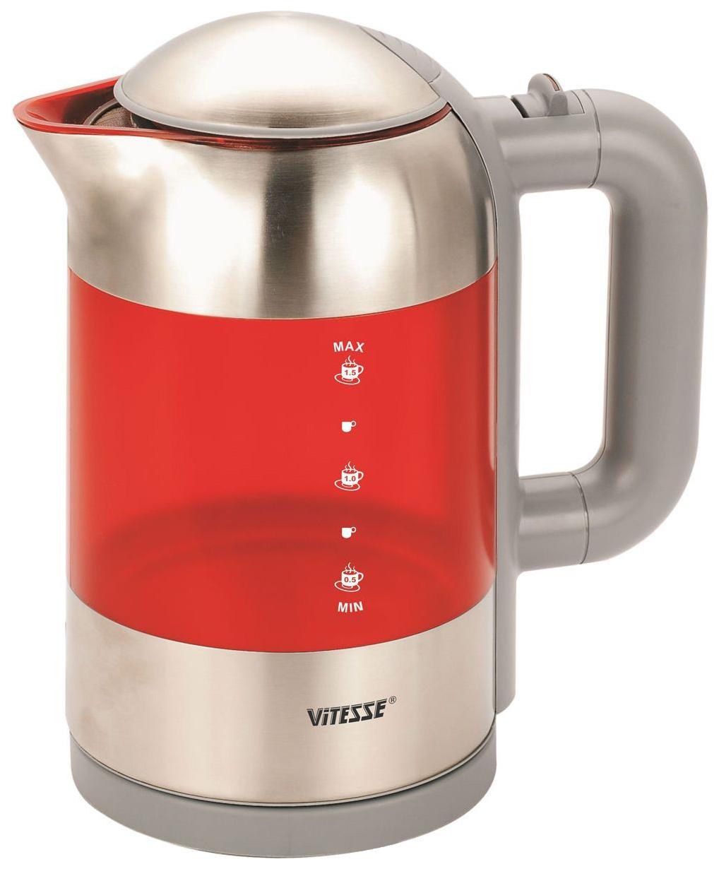 Чайник электрический Vitesse VS 113 Red/Silver