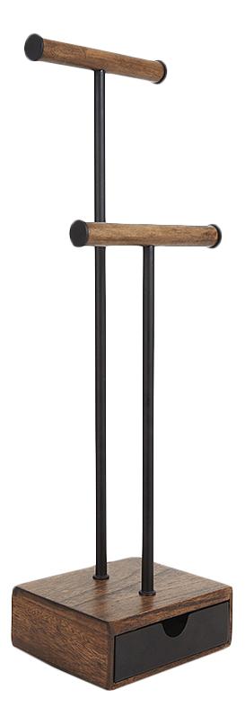 Органайзер Umbra для украшений Pillar высокий чёрный/орех
