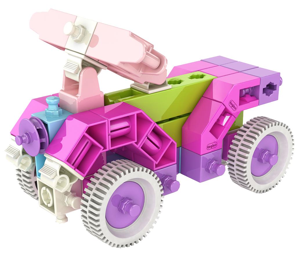 Купить INVENTOR GIRL, Конструктор пластиковый Engino набор из 15 моделей IG15, Конструкторы пластмассовые