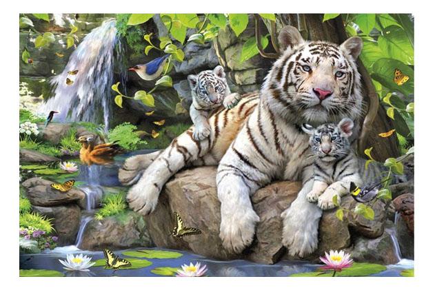 Пазл Educa тигр 1000 деталей белые бенгальские тигры 1000 деталей
