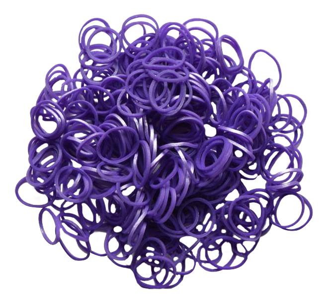 Плетение из резинок Rainbow Loom Metallic Purple