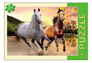 Купить Две лошади 260 элементов, Пазл Рыжий Кот Две лошади 260 элементов, Рыжий кот, Пазлы