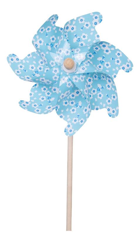 Игра уличная Fresh Trend Ветрячок небесно-голубой с цветочками 75 см