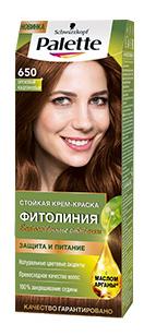 Краска для волос Palette Фитолиния 650 Ореховый каштановый